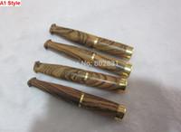 2 نمط الأبنوس الخشب أنابيب السجائر مزدوجة الترشيح الأنابيب الخشبية حامل السجائر المعدنية أنابيب التدخين الخشب!