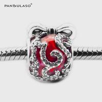 Pandulaso Christmas Bright Ornament Charm Beads For Woman Originale gioielli in argento sterling misura bracciali Pandora Charms