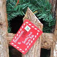 Envío libre de DHL decoración de Navidad para el sobre del hogar tarjetas de felicitación de Navidad bolsa de caramelo adornos para árboles de Navidad rojo