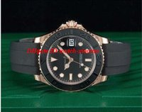 Luxury Wristwatch Automatic Black Dial 18kt Everose Gold Rub...
