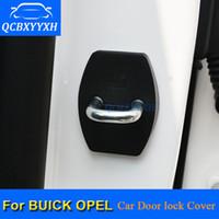 4pcs / lot ABS porte de voiture serrure de protection couvre pour Buick Opel Mokka Karl Antara Enclave Envision Regal Lacrosse Insigne Astra