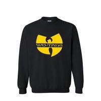 uomini trasporto all'ingrosso-libero hoodies di modo 2016 nuovo hip hop Wu-Tang Clan stampa sportswear felpa in cotone con cappuccio da uomo
