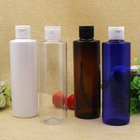 30pcs / lot botella blanca azul clara de 250ML 250ml, suero del suero 250ml, empaquetado cosmético 250ml, envase redondo plástico de la exhibición de la muestra