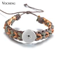 \ Нуса Оснастки прелести браслет 2 цвета кружева Up натуральная кожа тканые Fit 18 мм кнопка НН-510