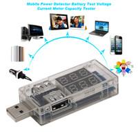 شاحن USB المحمول السلطة الكاشف اختبار البطارية الجهد الحالي متر قوة البنك متر اختبار القدرات KWS-10VA