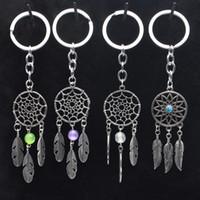 الأزياء هدية الوردي الأسود الخرز زاك ريشة الرياح الدقات حلم الماسك مفتاح سلسلة المرأة خمر الهندي نمط المفاتيح