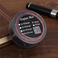 30 pcs Mais Novo Clapton Wire Resistência Fios 15 Pés 22 + 32 24 + 32 26 + 32 28 + 32 Awg Calibre Bobina De Carretel Da Bobina com Pacote Único para Rda DHL