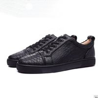Luxury Brand Men Shoes Black Genuine Leather Snake Pattern F...
