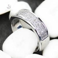 Kupfer Rhodium plattierte klassische Ringe weiße kubische Zirkonia sportlich mn3262 sz # 6 7 8 9 Noble großzügige Lieblingsbeste Seller First Class Produkte