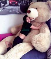 Dorimytrader 340cm 260cm 200CM ضخمة الجلد القطيفة تيدي بير لعبة لينة الغلاف مبتسما الدب هال (بدون القطن محشوة) شحن مجاني DY61021