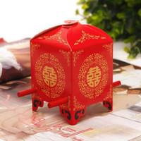레드 신부 가마 호의 상자 사탕 상자 결혼식 홀더 중국 스타일 6 * 6 * 9cm DHL 무료 배송을 부탁