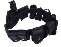 Cinturón de entrenamiento táctico multifunción para acampar con bolsa de herramientas Bolsa de bolsas impermeables 10PCS para teléfono con linterna Walkie Talkie