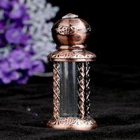 Bouteille de parfum vide de style arabe 4ml avec bâton d'immersion rechargeable bouteille de bouteille de bouteille de bouteille 6pcs / lot p010