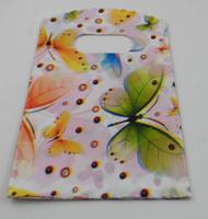Бесплатная доставка новый 500 шт. покупки бабочка пластиковая упаковка подарочная сумка 15X9 см горячие