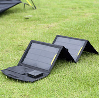 Monedero cargador de batería bolsa de 14W USB cargador solar portátil para el teléfono móvil + Panel + USB plegable