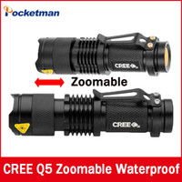 CREE XM- L Q5 2000Lumens led Torch Zoomable Waterproof LED Fl...