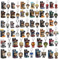 Funko POP Marvel Super Hero Harley Quinn Deadpool Harry Potter Goku Spiderman Joker Gioco dei Thrones Figurines Giocattolo Keychain OTH030