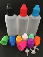 10 ml 15ml 20ml 30ml 50ml 60 ml 100ml 120 ml botellas de plástico E Botellas de líquido con tapas a prueba de niños PE de la aguja delgada para el jugo