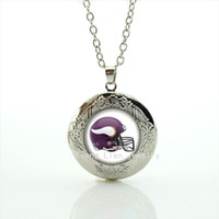 Silver plated glass cabochon locket necklace bijoux casual t...