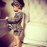 Baby Kids леопардовым принтом платье девушки ну вечеринку повседневная одежда платья принцесс Vestido детская одежда 3-10 лет