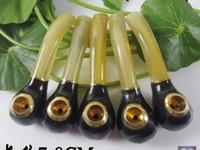 Chifres tubo longo 7-8 CM chifres de imitação com um tubo de cigarro de filtro, bongos de vidro, tubo de água de vidro, cachimbo