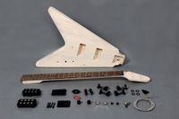 """Kit volante """"V"""" a 4 corde basso elettrico, kit fai-da-te"""
