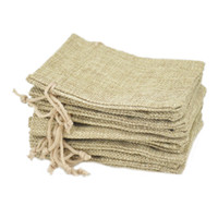 9x12cm Small Jute Bags Jewelry Bags Jute Drawstring burlap bags Gift Candy Beads Bags for Handmade Soap Storage Wedding Decor