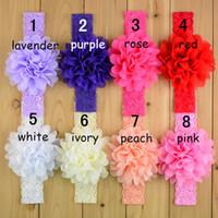 16 cores novas crianças laço laço bandanas menina bebê laço elástico headbands acessórios de cabelo frete grátis