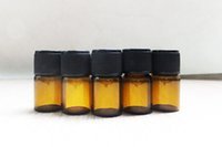 1ml 2ml 3ml Small Amber Glass Bottle Essential Oil Perfume B...