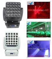 Neues Produkt 5x5 führte bewegliches Hauptlicht des Viererkabel-Hochleistungsmatrixstrahls 25x15W geführten