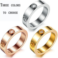 Hot sale Titanium steel ring rose gold ring silver ring scre...