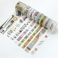 10 Muster 2016 Vintage Washi Klebeband Klebeband für DIY Scrapbooking Roman Leben Speicher Aufkleber Papier Karte Dekoration Reisetagebuch