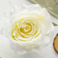 """الحرير الربيع وردة رئيس ضياء. 9CM / 3.54 """"30PCS الاصطناعي الورود الفاوانيا لDIY الزفاف باقة غطاء الرأس المعصم الزهور اكسسوارات"""