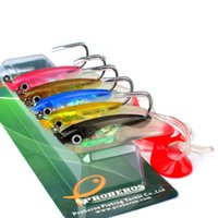 5- color 10cm 14. 7g Package Lead Fish Silicone Lures Fishing ...