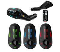 Nuovo kit per auto Lettore MP3 Trasmettitore FM senza fili Modulatore mp3 mp4 USB SD MMC Caricabatterie USB / ricarica remota per telefono cellulare