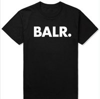 Man Balr T Shirts street tide casual short- sleeved round nec...