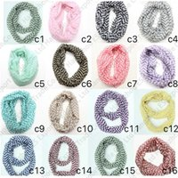 Foulard Infinity da donna con stampa a onda d'autunno e inverno. Sciarpe a 12 colori 160 x 50 cm. Sciarpe con anello da ciclista