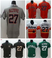 2016 Best quatily jersey Houston Astros#27 ALTUVE White Grey...