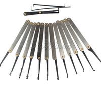 12 adet / takım Çilingir Ekipmanları Kilit Anahtar Extractor Traning Uygulama Onarım Araçları