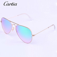 Carfia 58mm mirror gradient sunglasses 2017 pilot glasses fo...