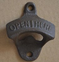 Metal wall mounted bottle opener with two srews