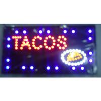 직접 판매에 서명했다 울트라 밝은 실행 타코 가게 메시지 간판은 간판 도매 주도 반 야외 10 * 19 인치