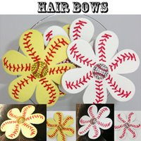 wholesale 2016 new Softball or baseball red Suture Flower Ac...