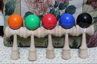 Heißer verkauf große größe 19 * 6 cm kendama ball japanischen traditionellen holzspiel spielzeug bildung geschenk 15 farben großhandel