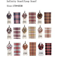 Newest Fashion Imitation Cashmere Plaid Infinity Scarf Loop ...