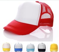 50pcs 14 colors Kids Trucker Cap Adult Mesh Caps Blank Truck...