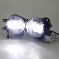 لتويوتا لاند كروزر برادو كامري كورولا RAV4 هايلاندر LED مصباح الضباب مع أضواء النهار تشغيل السيارات التصميم ملحقات DRL
