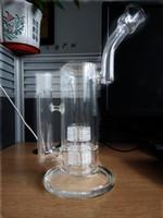 Bong Mobius Big Glass bong Rig Vetro doppio tubo Recycler Perc tubo di acqua con no.zb 18 millimetri articolazioni
