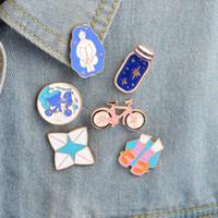 دبابيس دبابيس الوردي دراجة الأرض الأزرق أمنية زجاجة جورب صندل دبوس لسترات وحقيبة الظهر هدية لصديق