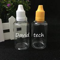 저렴한 가격 50ML 플라스틱 PET 병을 비우기 E 액체 E 주스 석유와 Childproof 캡 50ML 지우기 스포이드 병을 제조한다